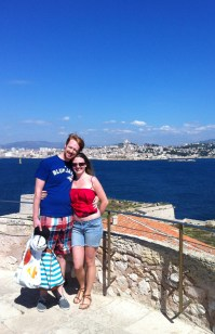 Zac and Leanne on top of the Chateau d'If