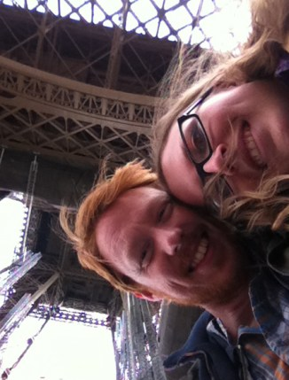 Zac and Leanne under the Eiffel Tower