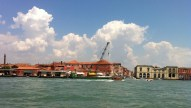 Likely Murano island on our way to Burano