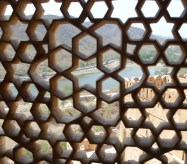 looking out of Amer Fort window