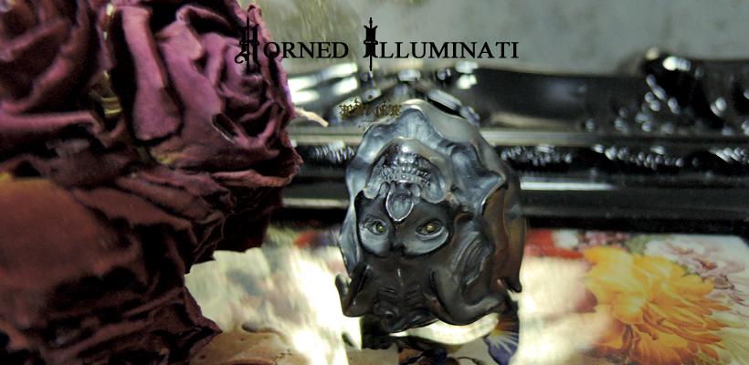 Silver925&K18 鬼女リング 「HORNED ILLUMINATI」 販売開始
