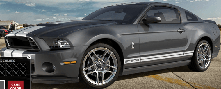 Dark Grey Ford Mustang Shelby GT500