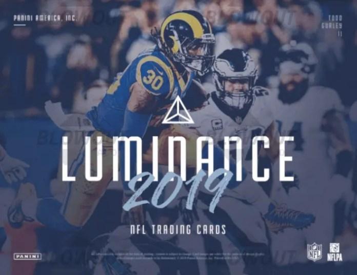 2019 Panini Luminance Football Base Checklist