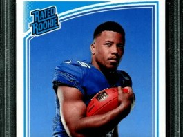 Saquon Barkley rookie card