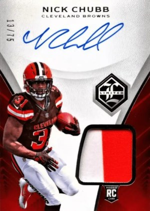 2018 Nick Chubb Limited Rookie Patch Auto
