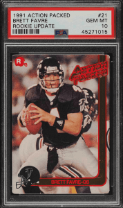 brett favre rookie card action packed
