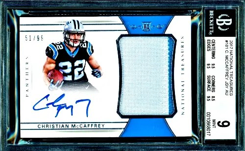 2017 Christian McCaffrey National Treasures rookie
