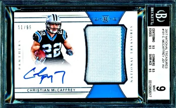 Christian McCaffrey rookie card