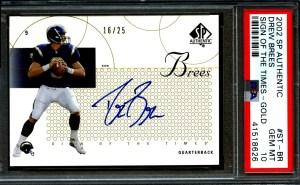 drew brees rookie card worth