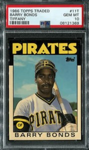 1986 topps barry bonds rookie card value