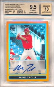 mike trout bowman rookie card