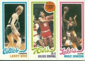 magic johnson larry bird rookie card