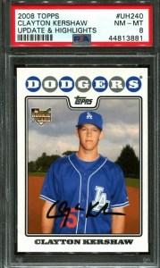 Clayton Kershaw rookie cards
