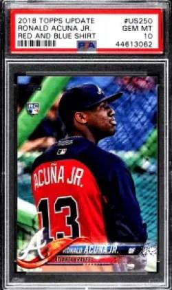 Ronald Acuna Jr. Topps Update Red & Blue Shirt