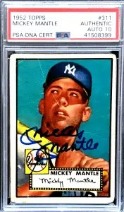 Mickey Mantle autograph Rookie Card