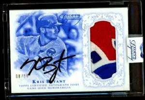 Kris Bryant topps rookie card