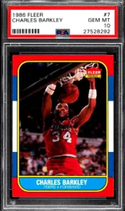 Charles Barkley rookie card