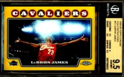 2008-09 Topps Chrome Gold Refractor #23 Lebron James