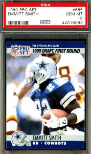 Emmitt Smith pro set rookie card checklist