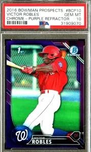 Victor Robles Bowman Chrome rookie card