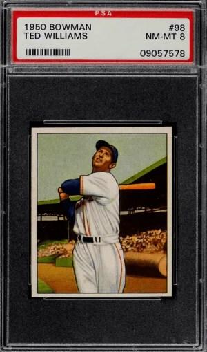 ted williams baseball card 1950
