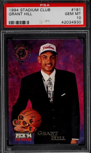 Grant Hill rookie card Stadium Club