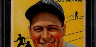 best Lou Gehrig baseball card