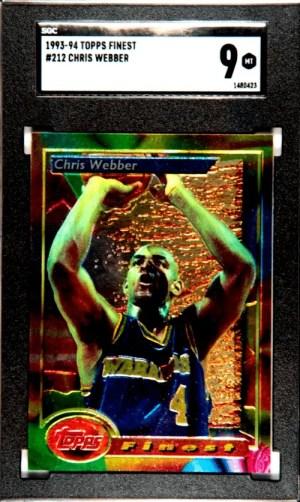 chris webber rookie card topps