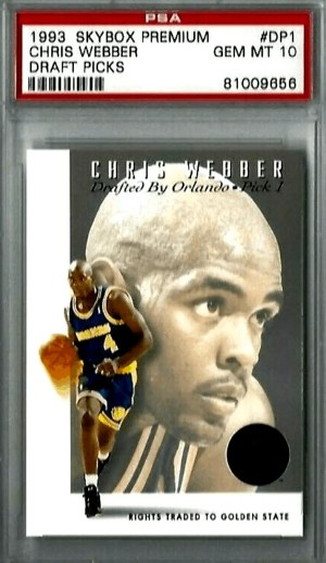 1993 Chris Weber Skybox rookie card