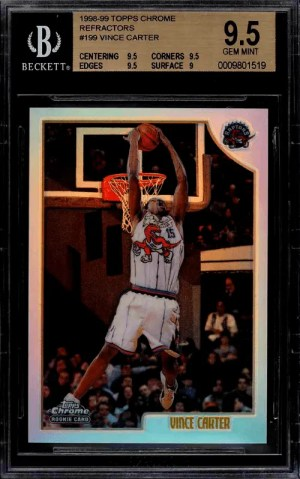 Vince Carter Topps Rookie Card