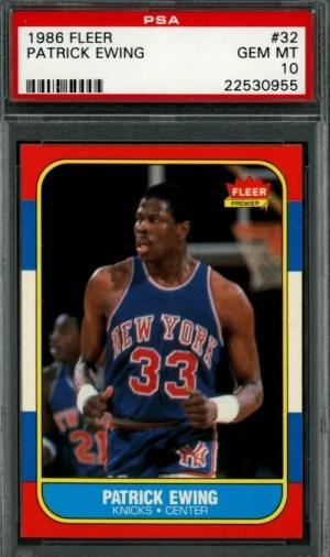 1986 Patrick Ewing Rookie Card Fleer