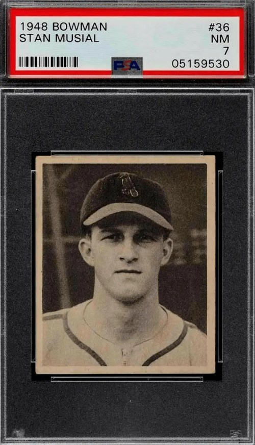 Stan Musial Baseball Rookie Card for sale