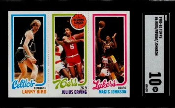 Most expensive Basketball Cards from the 1980s