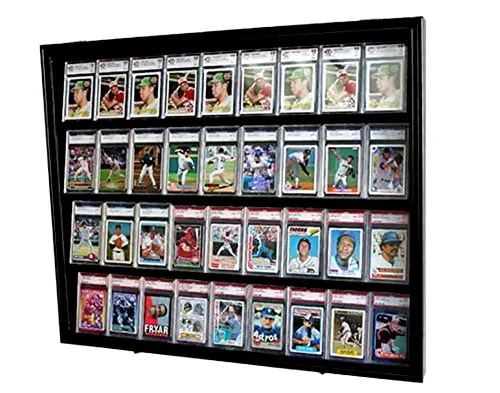 36 Graded Sports Card Display Case