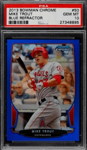 2013 Bowman Chrome Mike Trout baseball card
