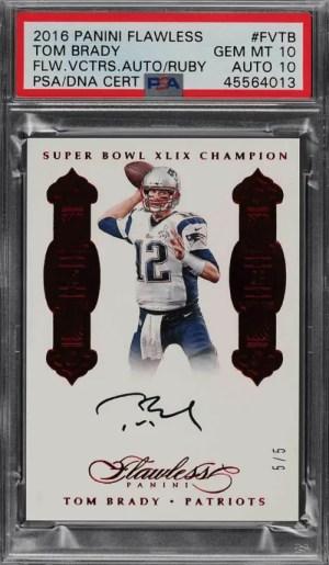 Tom Brady football card value