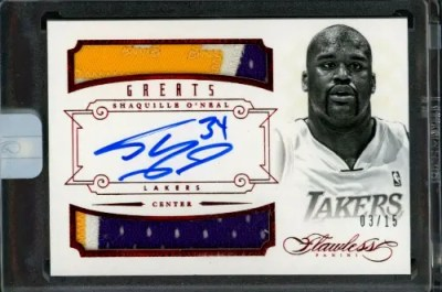 2012 Shaquille O'Neal Panini Flawless Greats