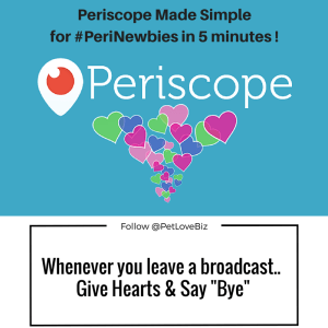 "Whenever you leave a broadcast ... Give HEARTS and Say ""Bye"" !"
