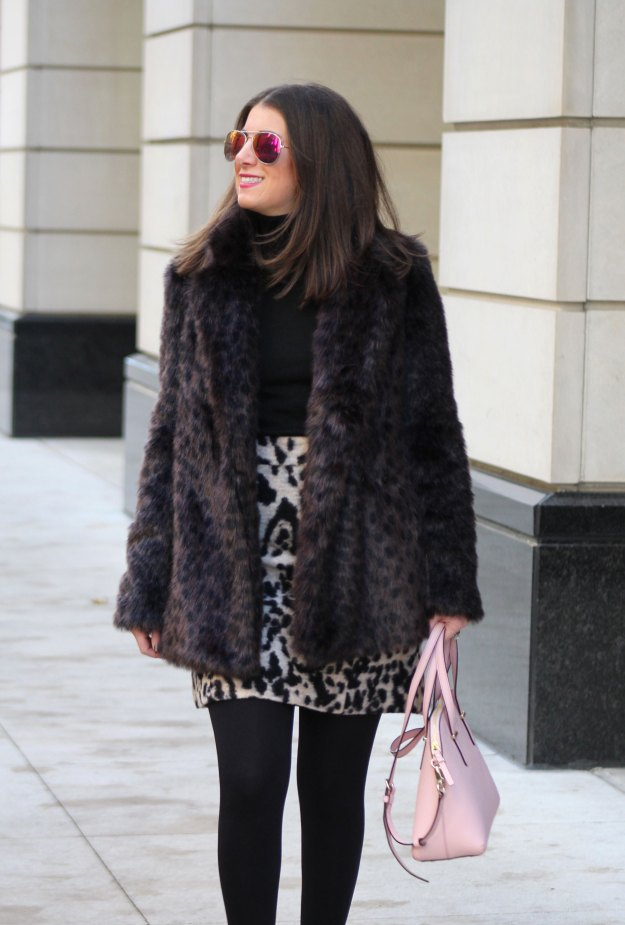 leopard skirt and faux fur 15