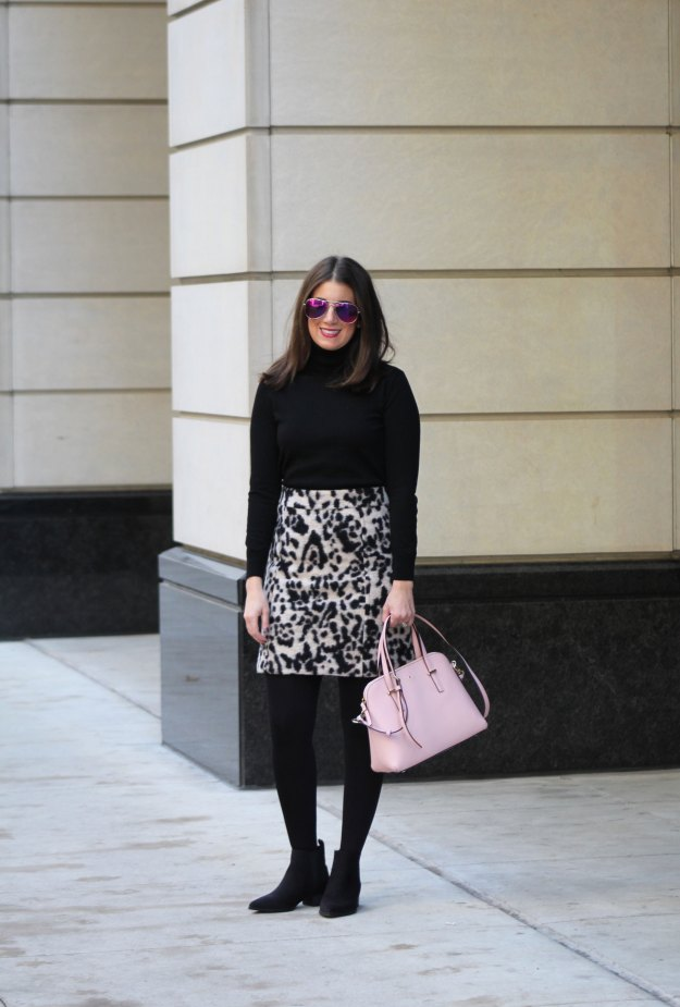 leopard skirt and faux fur 6