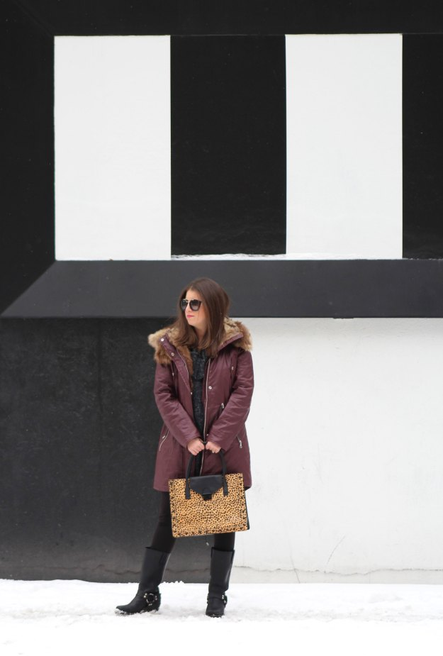 burgundy coat and leopard 1