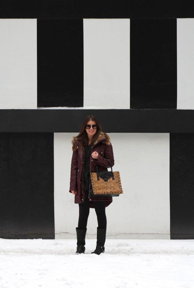 burgundy coat and leopard 3