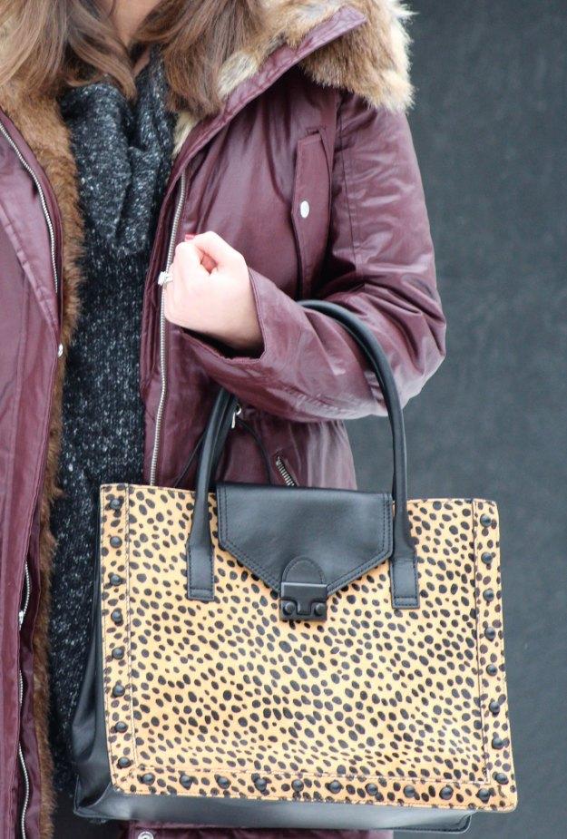 burgundy coat and leopard 7