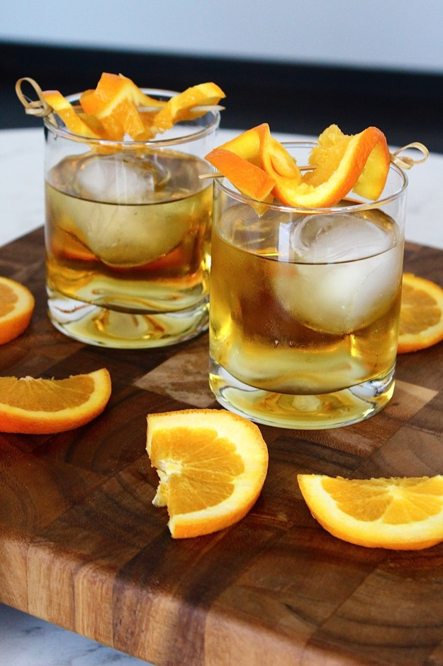 maple orange old fashioned