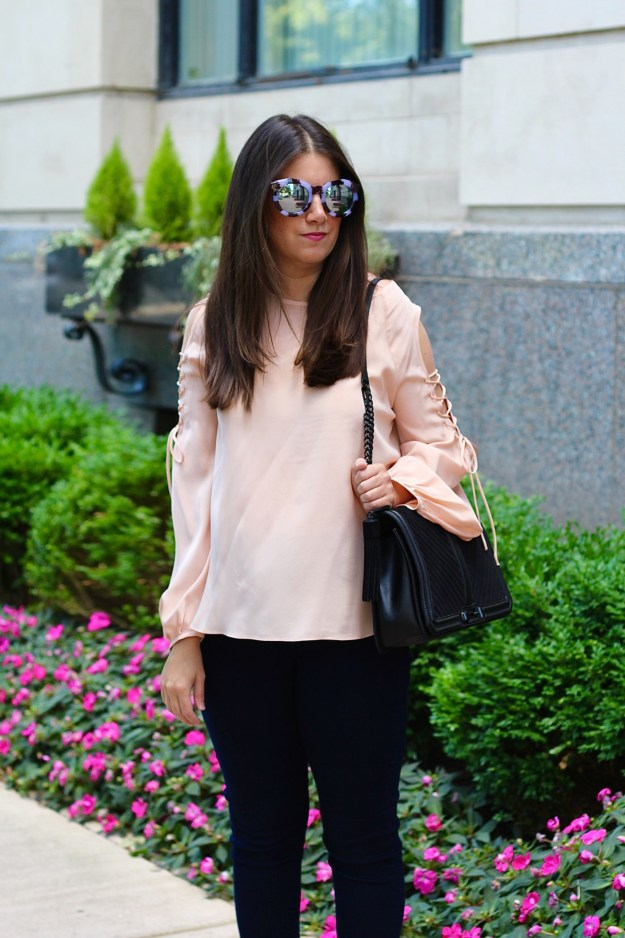 amanda uprichard blush top