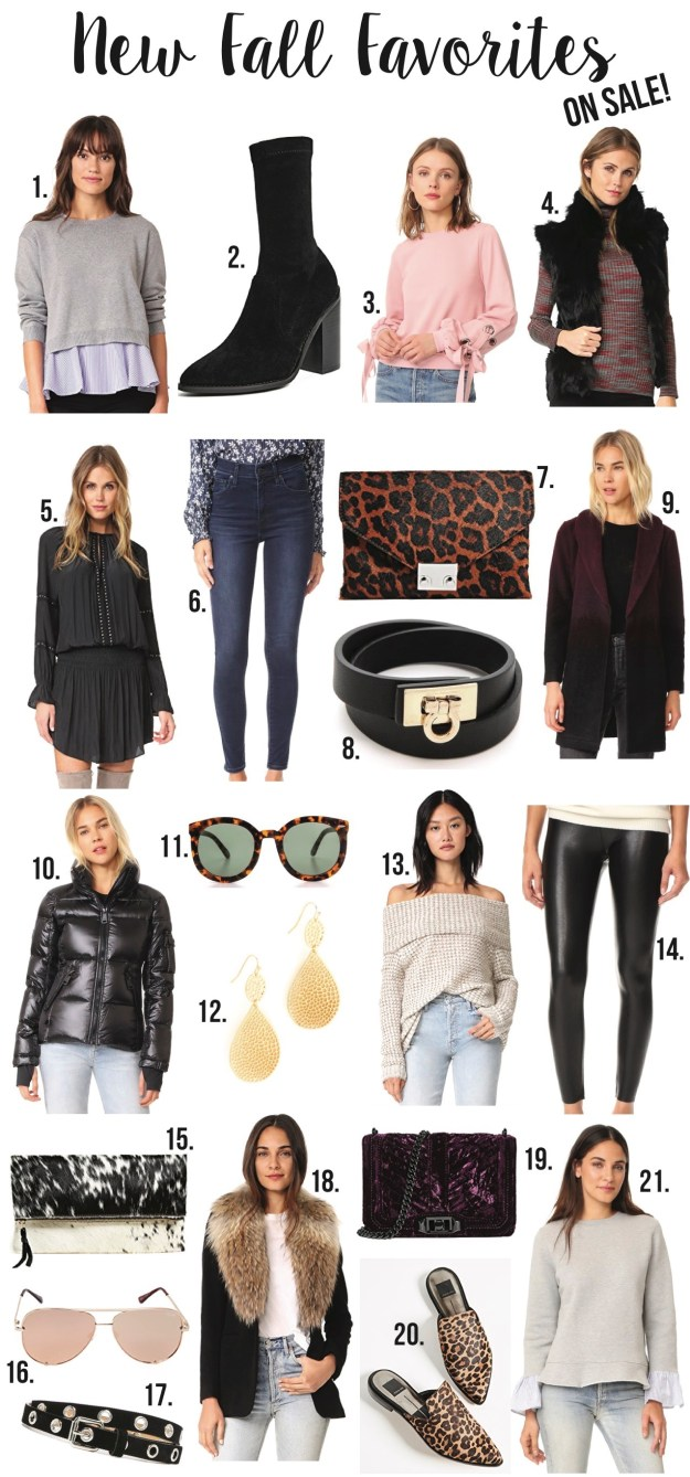 new fall favorites on sale