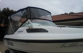 Clears enclosed with bimini
