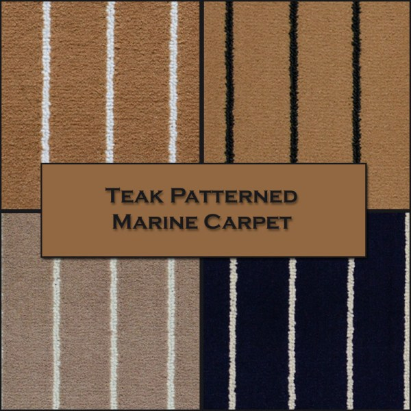 outdoor marine carpet - Teak