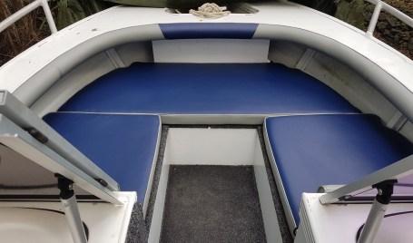Marine Upholstery Blue Grey