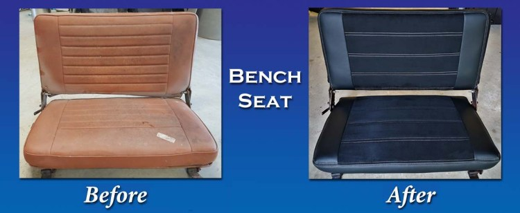 Before after jeep bench seat